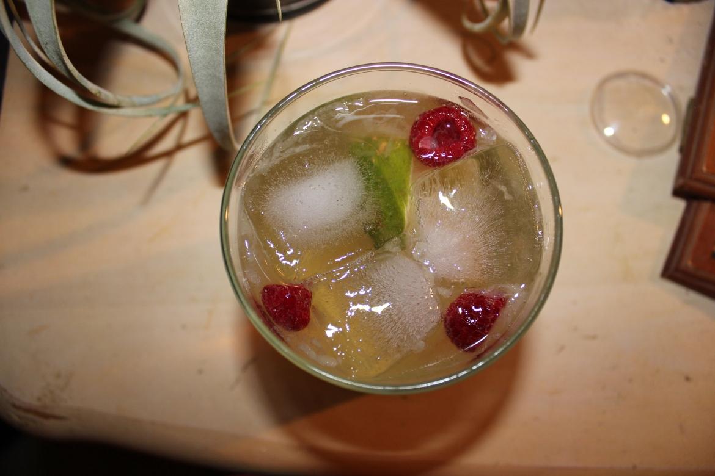Raspberries and lime